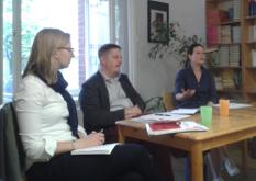 Dietmar Molthagen und Annette Tabbara im Gespräch über das Leitbild